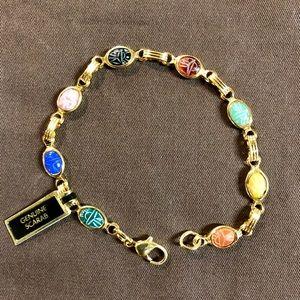 Classic 14KT gold-filled Genuine Scarab Bracelet